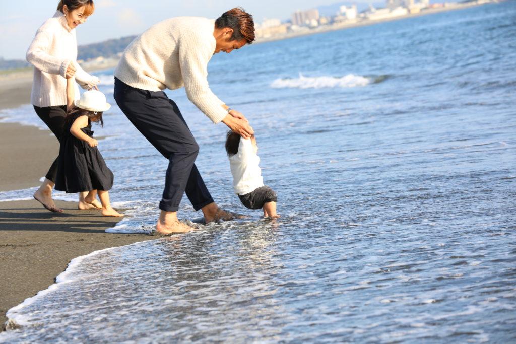 家族写真 海ロケーションフォト
