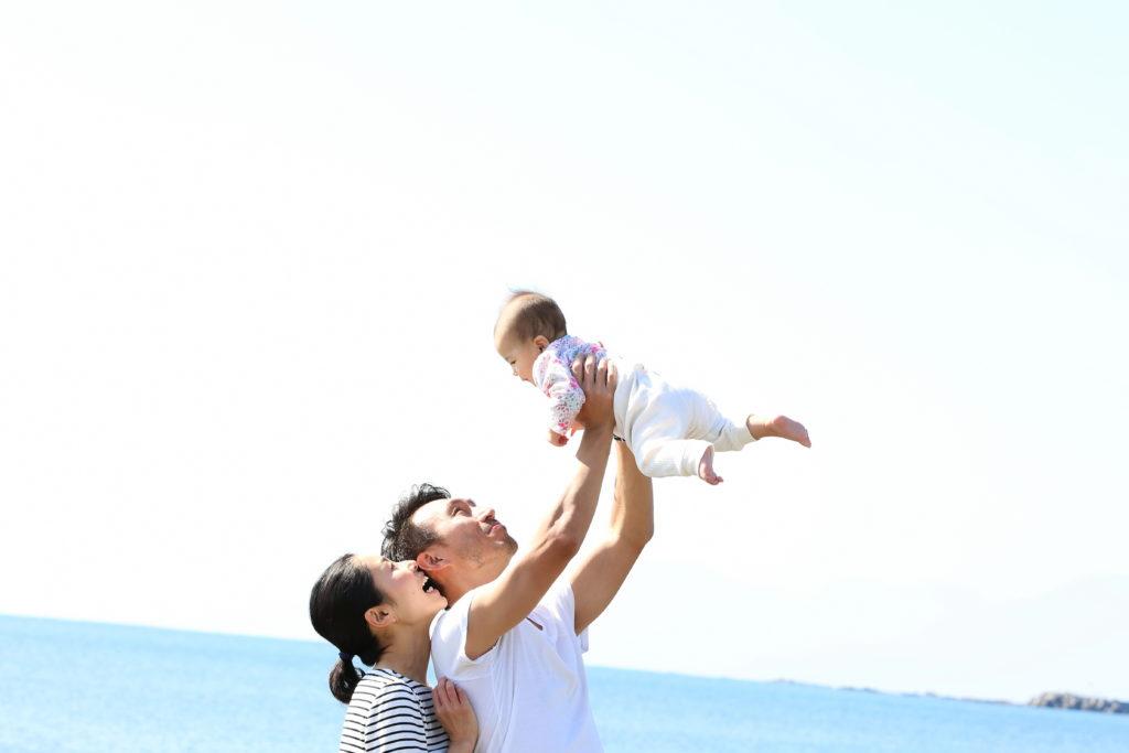 家族写真 海ロケーション出張撮影