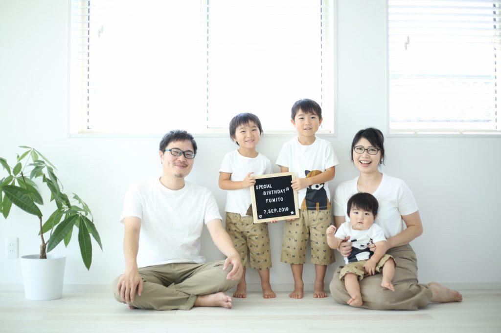 1歳バースデイフォト&家族写真@Atelier